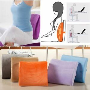memory foam seat soft lumbar pain support booster car cushion chair back height ebay. Black Bedroom Furniture Sets. Home Design Ideas