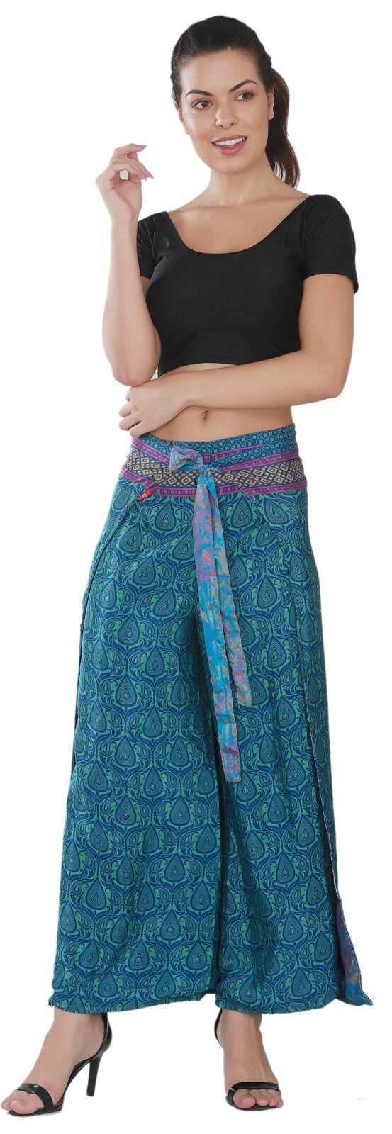10 Stücke Wrap Breites Bein Thai Seide Frauen Fischer Hosen Hosen Sarong