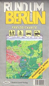 Freizeitkarte, Rund um Ost-Berlin, 1992