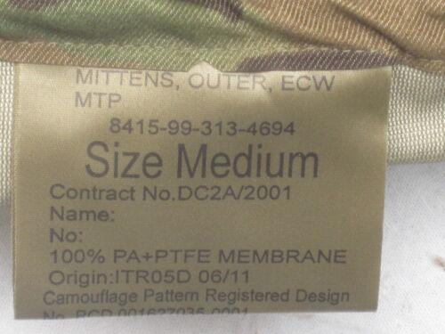 Mittens Outer Extreme Cold Weather,MTP,Nässeschutz Fäustlinge,Gr.Medium,Multicam