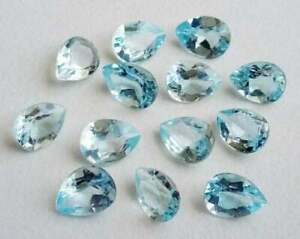 3x5 mm Natural Sky Blue Topaz Oval Faceted Cut Loose Gemstone