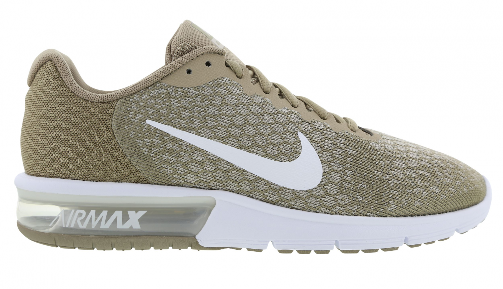Hommes Nike Air Max Sequent 2 Kaki Course Baskets 852461 200