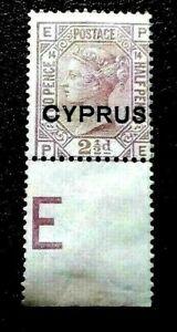 Cyprus-1880-English-Postage-Stamps-Overprinted-034-CYPRUS-034-2-P-Collectible-Stamp