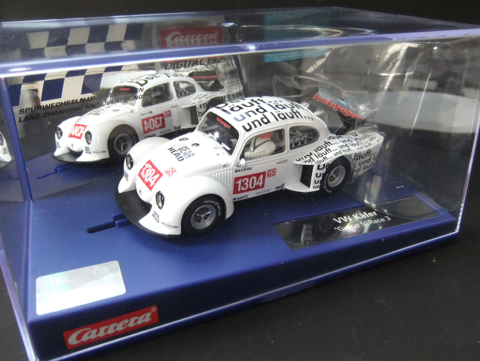 VW Käfer G 5 Race 3  Sondermodell Carrera Carrera Carrera 30728  Digital  1 32 f4dbb6