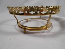 Victorian Hi-Rise Brass 4 inch Gas or Ball Shade holder for #2 Oil Lamp Burner