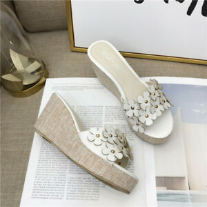 Sandalias Blanco 8 Plataforma Flores Zuecos Zapatillas Piel Plata N8nmw0
