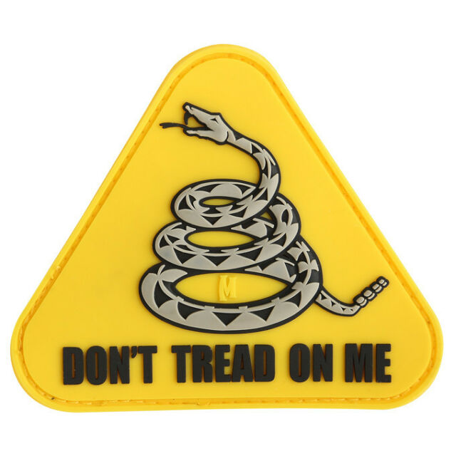 PVC Morale Patch - MAXPEDITION - DON'T TREAD on ME - FULL YELLOW pattern