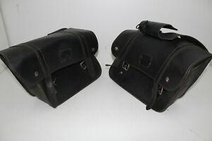 Seitentaschen-Leder-Motorrad-Darkbrown-links-rechts-Universal-Seiten-taschen-Bag
