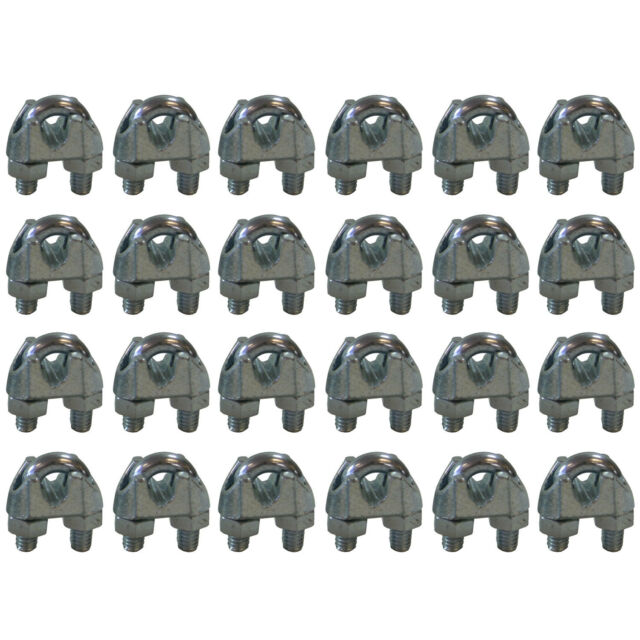 West Coast Wire Rope CPML316 Galvanized Steel 3/16-inch Cable Clamp Clip, 24PK