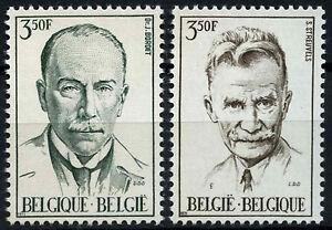 Belgio-1971-SG-2242-3-Set-D49228-PERSONAGGI-FAMOSI-Gomma-integra-non-linguellato