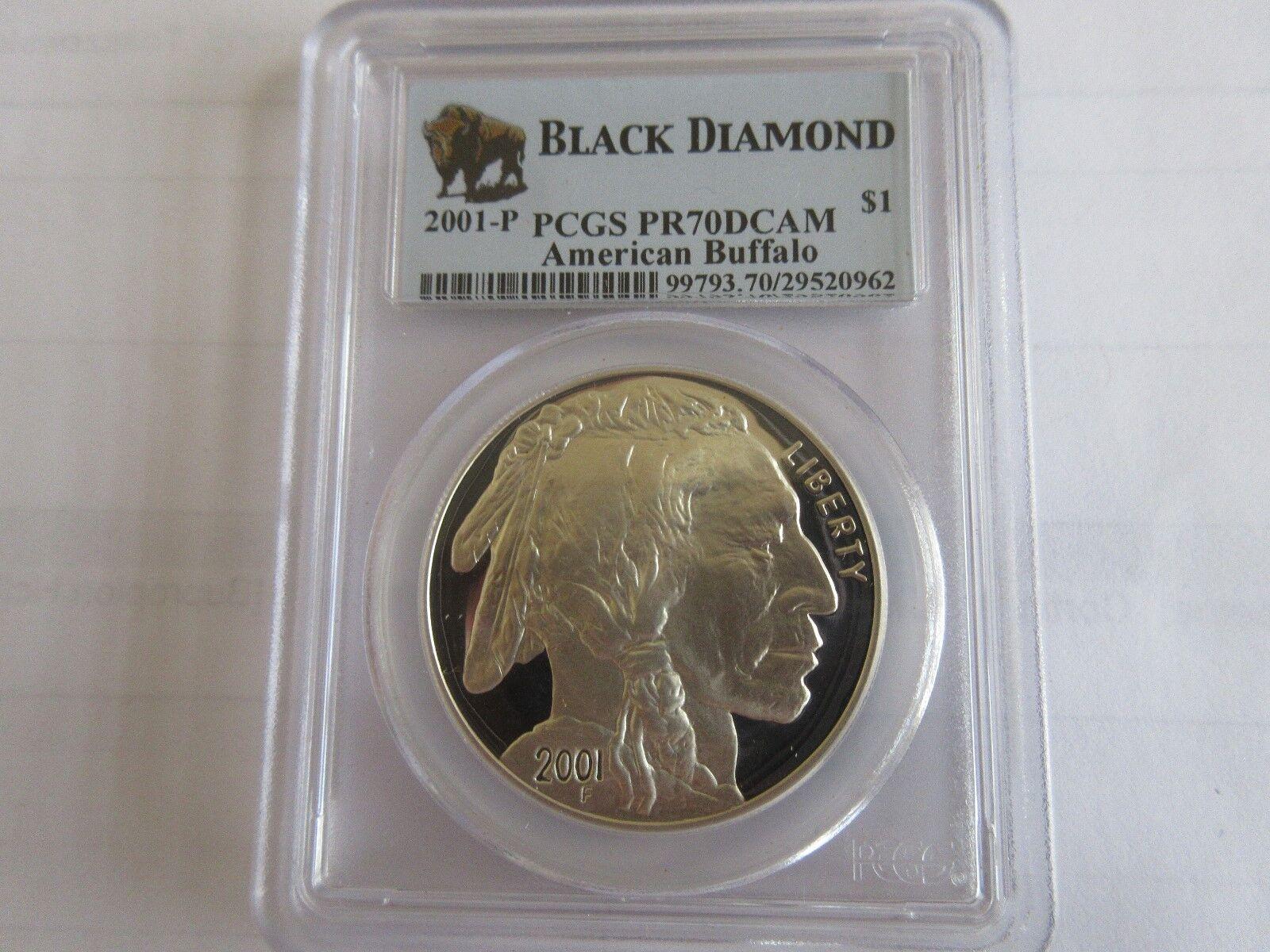 2001-P Black Diamond American Buffalo PCGS PR70DCAM