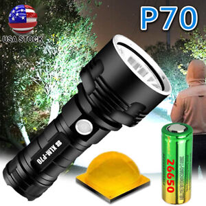990000LM Powerful P70 LED Flashlight 3Mode Rechargeable Torch & 26650 Battery US