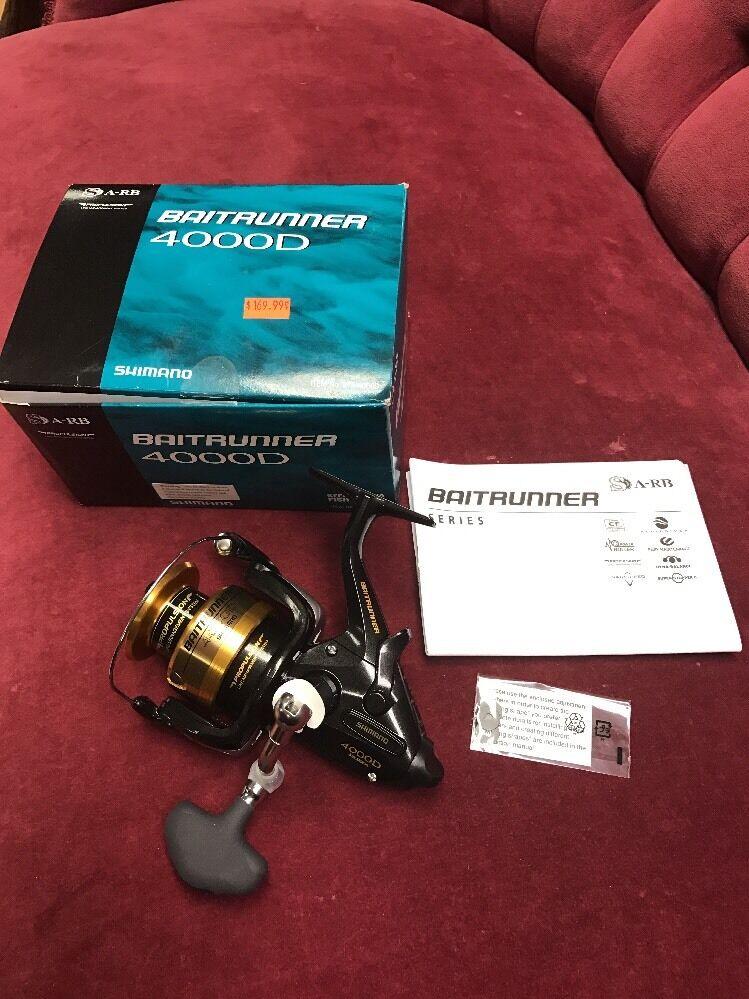 Shimano Baitrunner 4000D sistema de propulsión línea gestión de Cocherete de Pesca Nuevo En Caja  170