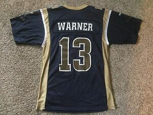 sale retailer e2d8c 7f1f5 Details about Los Angeles Rams Kurt Warner Jersey Football St. Louis Puma  Boys Youth Sz M