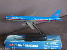 British Midland Airbus A321-200 Push Fit Wooster Model 1:200 Scale -  New