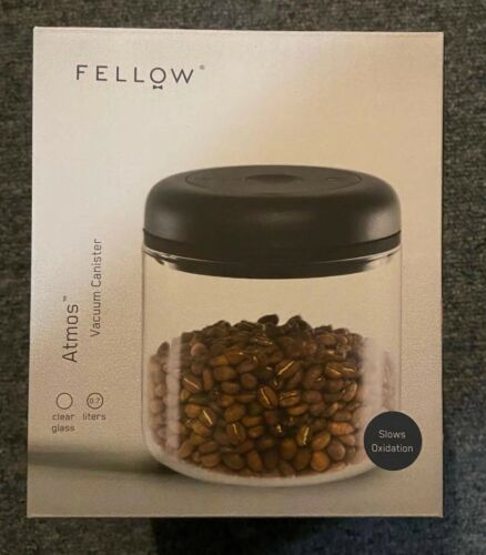 Clear Glass 0.7 Liter Fellow Atmos Vacuum Canister for Coffee /& Food Storage