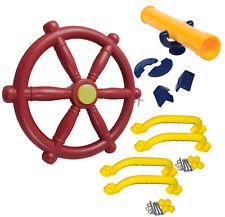 Zubehörset für Spielturm Lenkrad + Fernrohr + 4 Handgriffe Sparset Zubehör Set