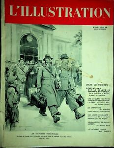 Vtg Original L'ILLUSTRATION French Magazine 4/4/1940 Les Touristes Indesirables