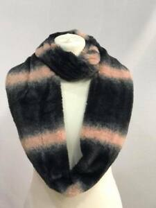 WOMEN LADIES SNOOD SCARF SOFT WINTER FLUFFY FUR PLAIN DOUBLE LOOP SNOOD WARMER