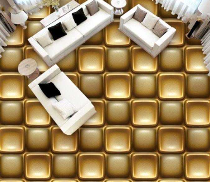 3D Golden Chocolate Art Floor Wallpaper Murals Wall Print Decal 5D AJ WALLAPER