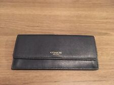 Gold Saffiano Leather Soft Wallet 49350 Last One! NWT Coach Loganberry