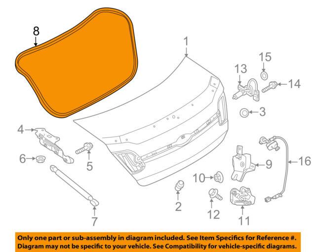 Brand New Genuine OEM Trunk Weatherstrip Seal 2010-18 Taurus Police Interceptor