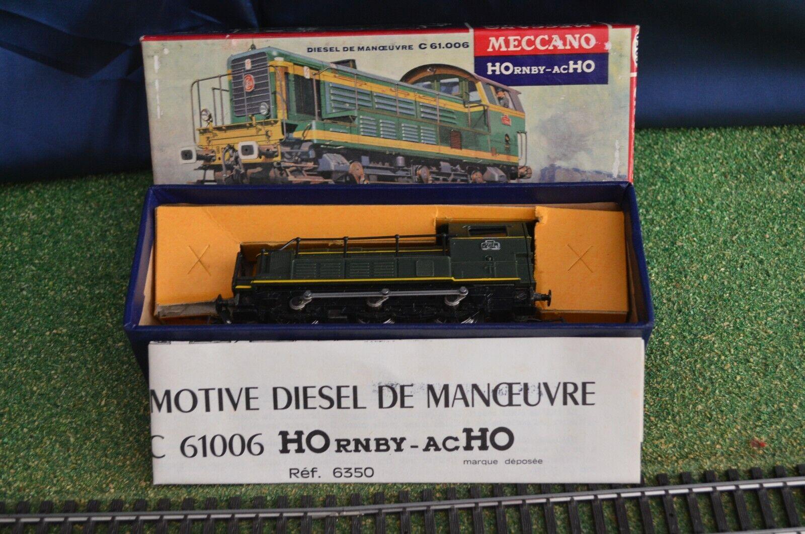 HORNBY HO LOCOMOTIVE DE MANŒUVRE C 61006 REF 6350 EN BOITE D'ORIGINE   BON ETAT