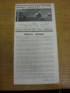 24-08-1949-Stockport-County-v-Bradford-City-Division-3-North-folded-Any-fau