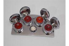 Base acciaio porta olio 4 posti coperchio para polvere lubrificazione pulizia