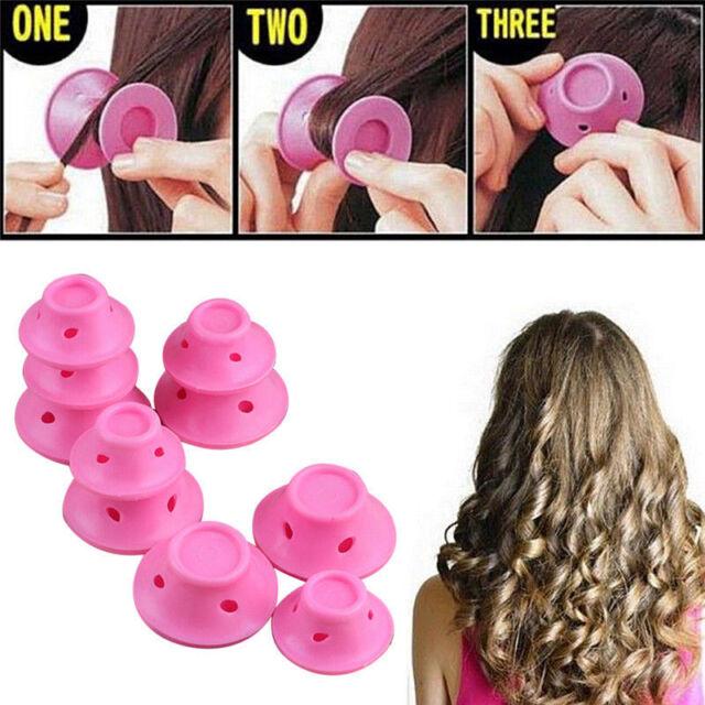 10Pop Silicone Hair Curler Spiral Roller Hair DIY No Heat Magic Spiral Clip Tool