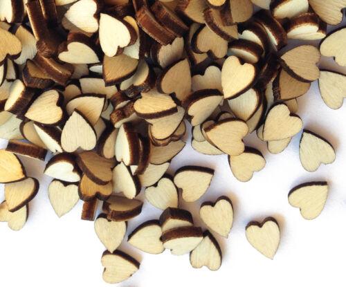 Love Hearts Plain Wooden Shabby Chic Craft Scrapbook Vintage Confetti Hearts
