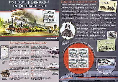 Brd 2010: Eisenbahn-erinnerungsblatt! Viererblock Der Nr 2833 + Nr 2561 Pf! 1906 Angemessener Preis