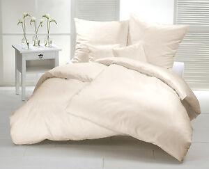 Biber Bettwasche 200x220 Natur Weiss Uni Flanell Baumwolle Einfarbig