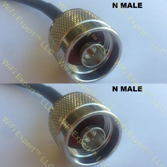 USA-CA RG316 DS SMB MALE to BNC MALE Coaxial RF Pigtail Cable