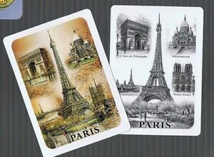 Playing-Swap-Cards-2-SEMI-VINT-WIDE-034-GAY-PAREE-034-ICONS-OF-PARIS-FRANCE-K35