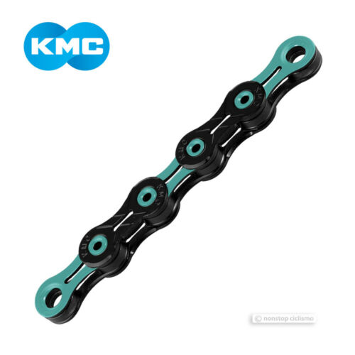 "KMC DLC 11 11-Speed Bicycle Chain 1//2/"" X 11//128/"" 118 links BLACK//CELESTE"