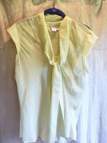 WORTH Camisole and Sheer Blouse Silk Pistachio Gre