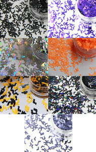 HALLOWEEN-BATS-4mm-NAIL-ART-GLITTER-SHAPE-SEQUIN-2g