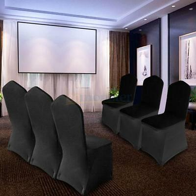 50/100pcs Lycra Spandex Stretch Chair Covers Wedding Party Event Banquet Black