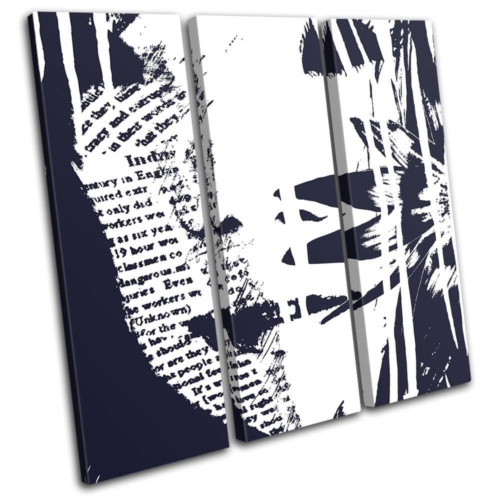 Floral Girl Text Abstract TREBLE Leinwand Kunst Bild drucken