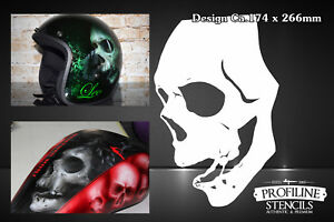 Airbrush-Schablone-Totenkopf-Schaedel-A4-Skull-Stencil