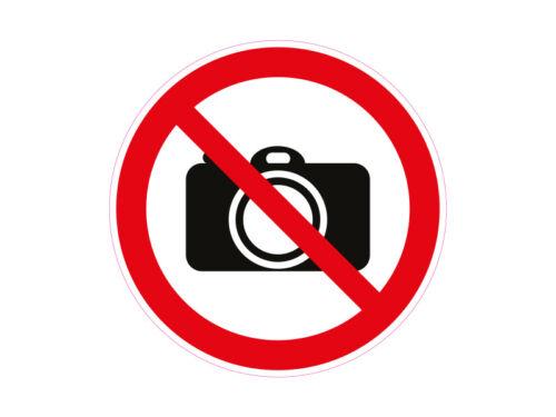 1 x Aufkleber Warnzeichen Kamera Verboten Foto Fotografieren Achtung Sticker SOS