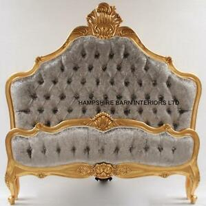 Image Is Loading Gold Leaf King Size Bed W Silver Crushed