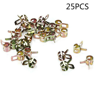 50 Pcs//set 1//4 Fuel Line Clamps Fit For 1//4-inch Lawn Mower Hose Spring Clips