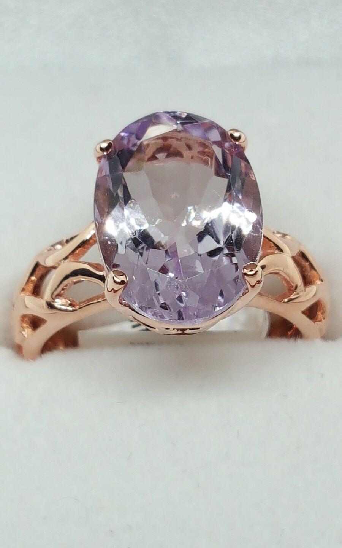 JAYNES GEMS 5.350CT PINK pink DE FRANCE AMETHYST RING UK N. US 6.5 EU53.