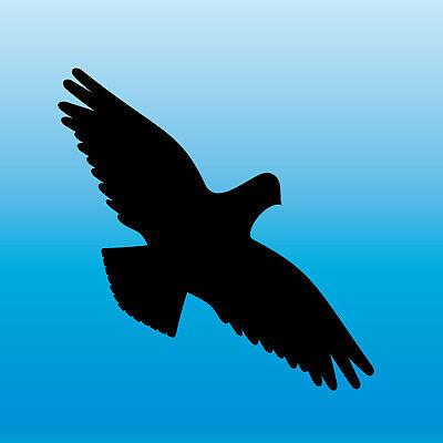El Precio MáS Barato Warnvogel Pegatinas 13cm Negro Devorarán Pájaro Schreck Ventana Protección Lámina Decorativa Menos Costoso
