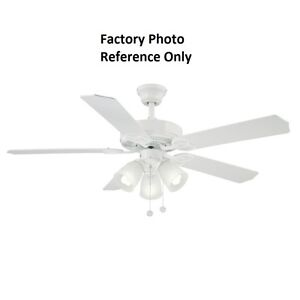 Brookhurst 52 in indoor white ceiling fan replacement parts ebay image is loading brookhurst 52 in indoor white ceiling fan replacement aloadofball Gallery