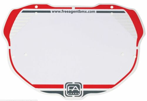 Free Agent BMX  Number Plate  Number Plate Pro RED NEW