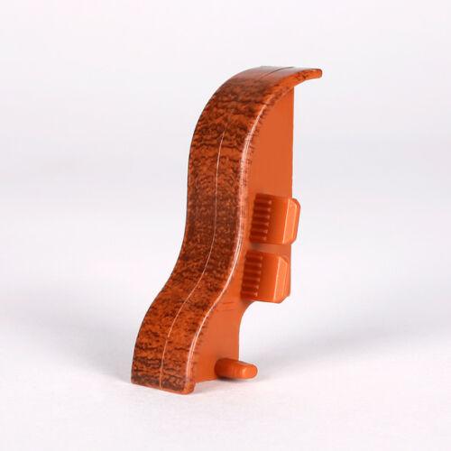 Ecken Verbinder und Abschlüsse für Sockelleisten in 40mm Höhe bedruckt metallic