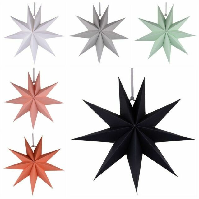 3D DIY Nine Angles Paper Star Hanging Christmas Lantern Home Party Craft Decor
